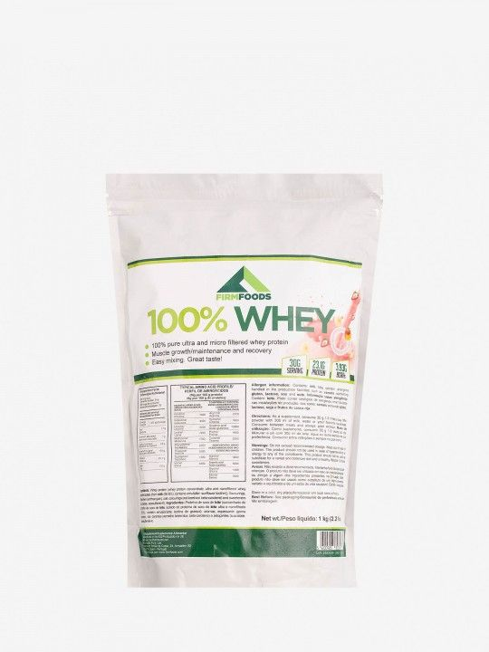 100% Whey de Morango e Banana Firm Foods