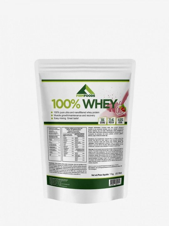 100% Whey de Morango Firm Foods